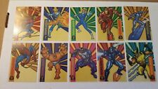 1994 Fleer Marvel Universe SUSPENDED ANIMATION 10 card insert set + Bonus