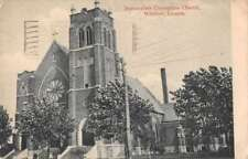 Windsor Canada Immaculate Conception Church Antique Postcard J68739