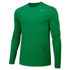 NWT NIKE Men's Legend Long Sleeve Performance Shirt Green 727980-341 Sz L