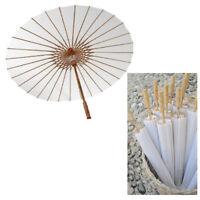 Ombrello Sposa Cinese Carta Bianco 42Cm Decorazioni Matrimonio Wedding Feste 146