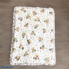 Classic Winnie The Pooh Cradle Bassinet Size Comforter Blanket Eyelet Trim