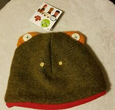 CATE AND LEVI TODDLER BOYS DOUBLE LAYER RECLAIMED WOOL FROG HAT fits 3-10 years