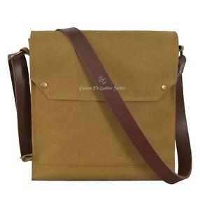 Indiana Jones Bag Mk VII Leather Strap WWII Gas Mask Bag Satchel Reproduction