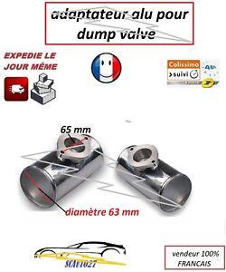 adaptateur dump valve convient greddy en alu diamètre 63 mm en T