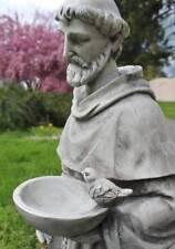 St. Francis of Assisi Outdoor Garden Statue 24 inch Birdfeeder Bird Feeder Resin