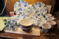 "HTF Set of 16 Pieces of ROYAL NORFOLK RN124 Paisley Dinnerware ""Read Below"""