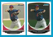 RONNY RODRIGUEZ Lot of (2) 2013 Bowman Prospets & Chrome Rookie Cards RC