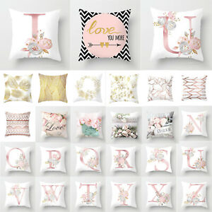 Pink Geometric Room Throw Pillow Cases Rose Gold Cushion Cover Kids Soft Decor