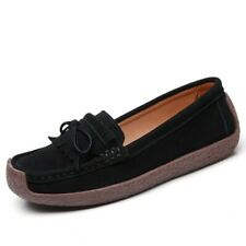 Casual Womens Loafers Suede Fabric Moccasins Slip On Tassel Flats Shoes Pumps B