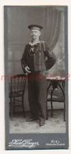 Kabinettfoto, matrosenportrait SMS Mecklemburgo, Dreyer Kiel, ca 1905; 5026-157