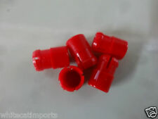 5 X Red 5MM Push in Panel Lens, Panel Lamp Lens     *AUST SELLER, FAST POST*