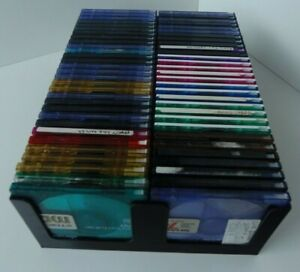 Black MiniDisc tray (Holds 60 discs not in cases) storage/holder/stand/rack/box