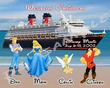 5x7 Disney Cruise Magnet - BEACH - ANY CHARACTER - DREAM/FANTASY/MAGIC/WONDER
