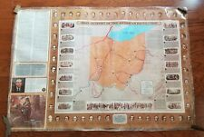 """Vintage Ohio Outpost of American Revolutionary War Laminated 30""""x43"""" Map Poster"""