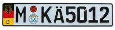 European Euro German License Plate, with Random Numbers for Munich Germany
