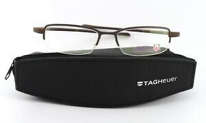 TAG Heuer Glasses Th 3201 003 50 17 140 Luxury half-Rim Titan Frame Brown Size S