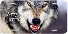 Wolf Any Text Personalized Novelty Car License Plate P02
