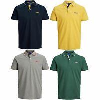 Jack & Jones Men's Polo Slim Fit T-shirt Cotton Short Sleeve Logo Print Tee Top