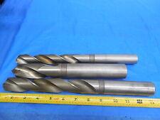 New listing Lot Of 3 Hss Twist Drill Bits 61/64 , 1 9/64 , 1 9/32 .953125 1.140625 1.28125