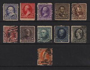 219-229 1c-90c 1890-93 M&U Set 11 items