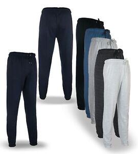 Men's Jogging Terry Bottoms Regular Fit Jogger Tracksuit Fleece Pant Gym Sweats