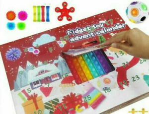 Fidget Calendar Advent Toy Christmas Toys Xmas Pop Simple Dimple Toy Gift Set