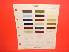 1973 CHRYSLER IMPERIAL NEW YORKER BROUGHAM NEWPORT TOWN&COUNTRY PAINT CHIPS 73