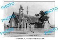 OLD 8x6 PHOTO OF SYDNEY NSW GLEBE St JOHNS CHURCH SCHOOLHOUSE c1880