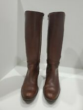 a.n.a. womens brown leather knee high boots size 7 M