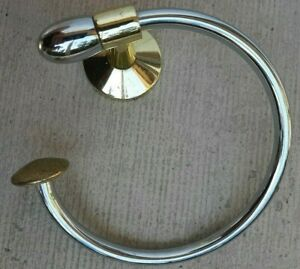 Vintage Gold and silver Coat or Hat Hanger - Can I take your hat?