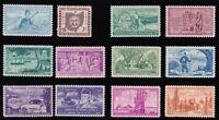 1953 Year Set of 12 Commemorative Stamps Mint NH - Stuart Katz
