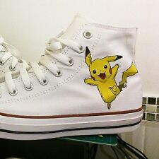 PIKACHU Custom Trainers Pokemon Converse - All Sizes MADE TO ORDER by Coocu
