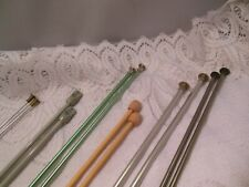 Lot Of 6-Prs Knitting Needles-#0-Hero #7-Us #5-Bates #6-Takumi, #9-Boye, #6-Boye