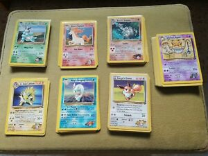 Pokemon Lot Gym Challenge Non Holo Cards