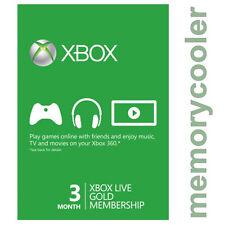 3 MESES Live GOLD SUBSCRIPCIÓN Tarjeta Prepago Xbox 360 / Xbox ONE ESPAÑA