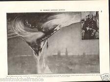 Zeppelin Bombardements Aériens Sandringham Norfolk UK WWI 14 18 PLANCHE 1929