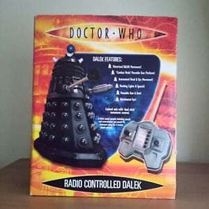 Rare Doctor Dr Who Radio Controlled 12 Inch Black Dalek Boxed Great Condition