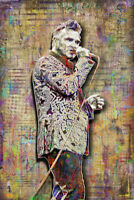 MORRISSEY of THE SMITHS 12x18in Poster, Morrissey Art Print Free Shipping