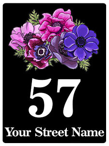 221 Personalised Number Address House Metal Aluminium Sign Plaque For Door Wall