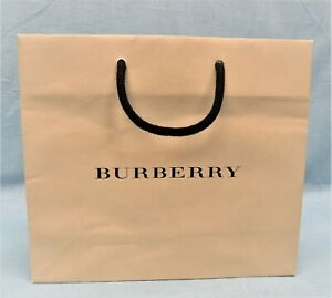 NEW BURBERRY BEIGE PAPER SHOPPING GIFT BAG CLOTHES GIFTS ACCESSORIES