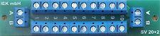 Stromverteiler SV 20+2, 2 Eingänge 20+2 Ausgänge 10 A, Verteiler, anreihbar, IEK
