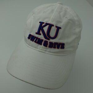 KU Swin & Dive Kansas Jayhawks Adidas Adjustable Adult Baseball Ball Cap Hat