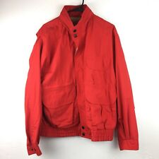 Forest Club Men's Coat Jacket Hidden Hood Red Vintage Style Ski Snowboard Sz L