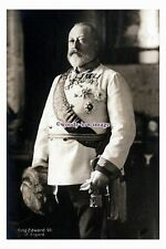 rs1257 - King Edward VII in his Royal Regalia, (later years) - photograph 6x4
