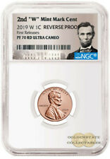 """LIVE !!2019 2nd """"W"""" Penny NGC PF70 RD UCAM Rev. Proof First Releases Lincoln"""