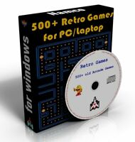 Classic Retro Arcade Games Collection PacMan, Space Invaders, Asteroids CD-ROM