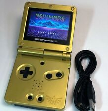 Nintendo Game Boy Advance GBA SP Zelda Triforce Gold System AGS 101 Brighter