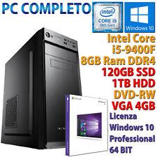 PC COMPUTER DESKTOP GAMING CORE i5-9400F RAM 8GB SSD 120GB + HDD 1TB RX 550 4GB