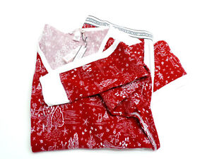 Victoria's Secret The Thermal PJ Set Red Whimsy Print Size Large New! NWT