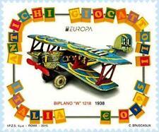 # ITALIA ITALY - 2015 - EUROPA CEPT - Biplane Airplane - Old toy - Stamp MNH